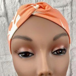 Buck Forest Orange & White Faux Turban Knottie